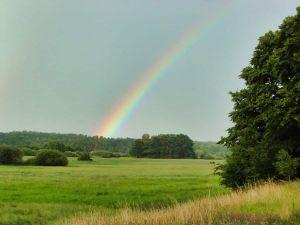 Regenbogen über dem Braminsee